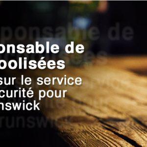 SERVICE RESPONSABLE DE BOISSONS ALCOOLISÉES